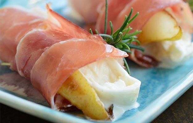 Thanksgiving Appetizer Recipe Prosciutto Pears