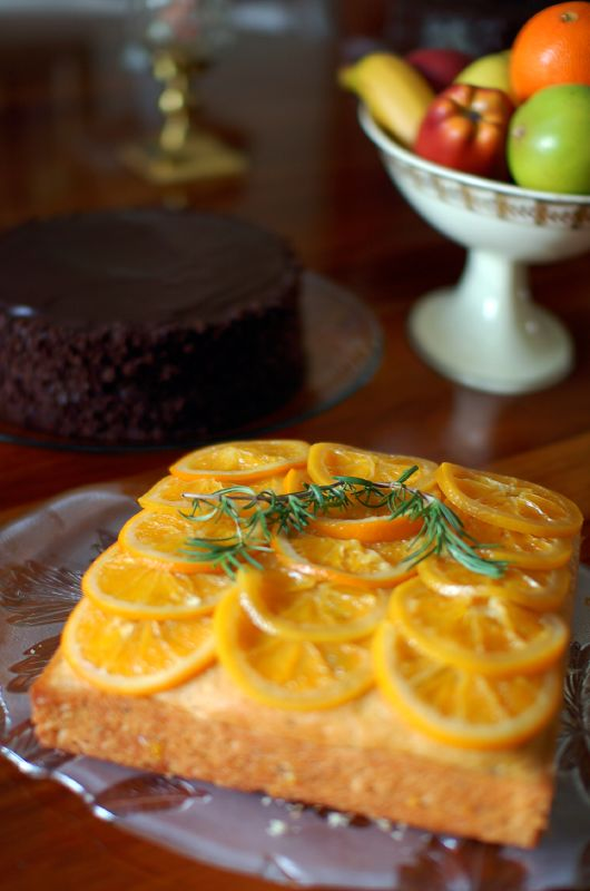 Rosemary Chocolate Olive Oil Cake