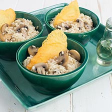 Mushroom Truffle Risotto And Parmigiano Crackers Recipe