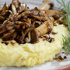 Wild Mushrooms in Truffle Balsamic Reduction Recipe