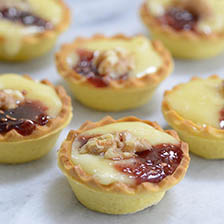Baked Camembert and Raspberry Jam Mini Tarts Recipe