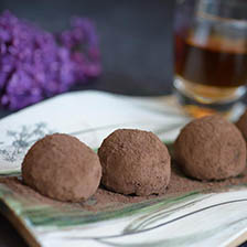 Cocoa Dusted Chocolate Truffles Recipe