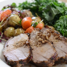 Balsamic and Red Wine Iberico Pork Loin with Potato Recipe