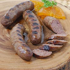 Bison Sausage With Chipotle Chilies
