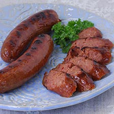 Smoked Duck Sausage with Apple Jack Brandy