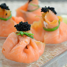 Smoked Salmon And King Crab Meat Pockets Recipe