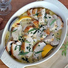 Roast Chicken With Dijon Mustard and Fresh Tarragon