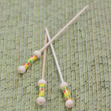 Bamboo Pearl Skewers - 4.7 Inch