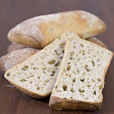 French Ciabatta Bread With Green Olives - Frozen