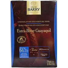 Cacao Barry Dark Chocolate - 64% Cacao - Extra-Bitter Guayaquil