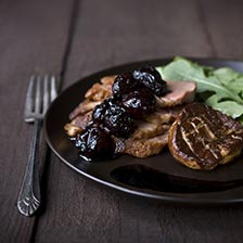 Duck Breast with Foie Gras and Balsamic Cherries Recipe