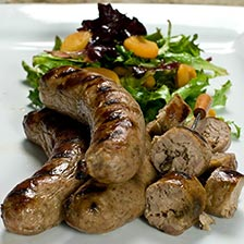 Duck Sausage with Figs