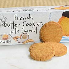 French Butter Cookies with Coconut