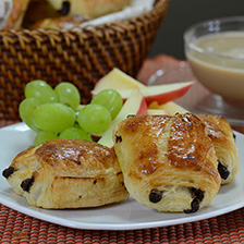 French Mini Chocolate Croissant (Pain au Chocolat) - Frozen