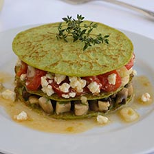 Goat Cheese On Green Pea Blinis Recipe