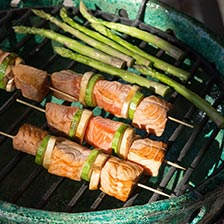 Grilled Salmon Kebabs Recipe