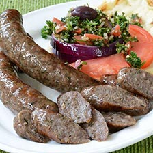 Lamb Sausage with Oregano, Roasted Garlic and White Wine