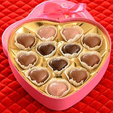 Leonidas Pink Heart Box Assorted Chocolates Collection | Valentine's Day Chocolates
