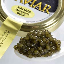 Kaluga Fusion Imperial Gold Caviar - Malossol, Farm Raised