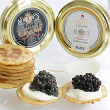 Osetra Karat Black and Sevruga Caviar Taster Set