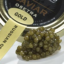 Osetra Golden Imperial Russian Caviar - Malossol, Farm Raised