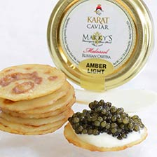 Osetra Karat Russian Caviar, Light Amber Gift Set