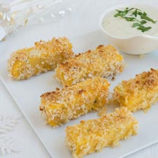 Polenta Fingers With Gorgonzola Cream Cheese Dip Recipe