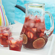 Rose Water, Lime and Strawberry Wine Sangria Recipe