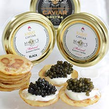 Russian Osetra and Russian Osetra Karat Caviar Taster Set
