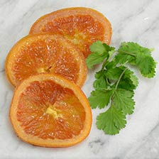 Candied Orange Slices, Glazed