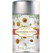 Tea Forte Chamomile Citron Herbal Tea - Loose Leaf Tea Canister