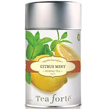 Tea Forte Citrus Mint Herbal Tea - Loose Leaf Tea Canister