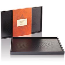Tea Forte Ebonized Hardwood Tribeca Tray