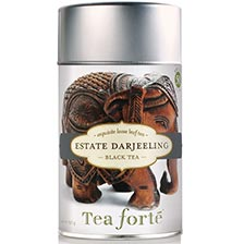 Tea Forte Estate Darjeeling Black Tea - Loose Leaf Tea Canister