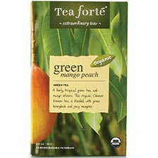 Tea Forte Green Mango Peach Green Tea - 16 Filterbags