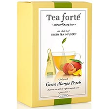 Tea Forte Green Mango Peach Green Tea - Event Box, 48 Infusers