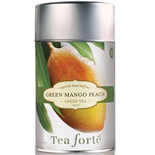 Tea Forte Green Mango Peach Green Tea - Loose Leaf Tea Canister
