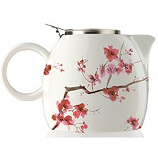 Tea Forte PUGG Ceramic Teapot - Cherry Blossoms
