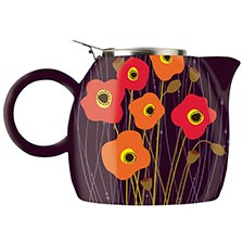 Tea Forte PUGG Ceramic Teapot - Poppy Fields