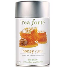Tea Forte Skin Smart Honey Yuzu Green Tea - Loose Leaf Tea Canister