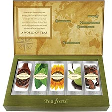 Tea Forte World Of Teas Sampler Loose Leaf Tea Single Steeps