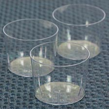 Transparent Cristal Clear Round Container