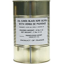 Oil Cured Black Ripe Olives with Herbs de Provence