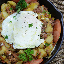 Wagyu Corned Beef Hash With Fried Egg Recipe