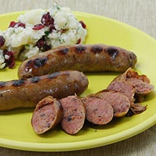 Wild Boar Sausage with Cranberries and Shiraz Wine