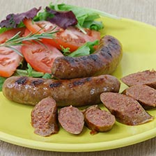 Wild Boar Sausage with Roasted Garlic and Marsala Wine