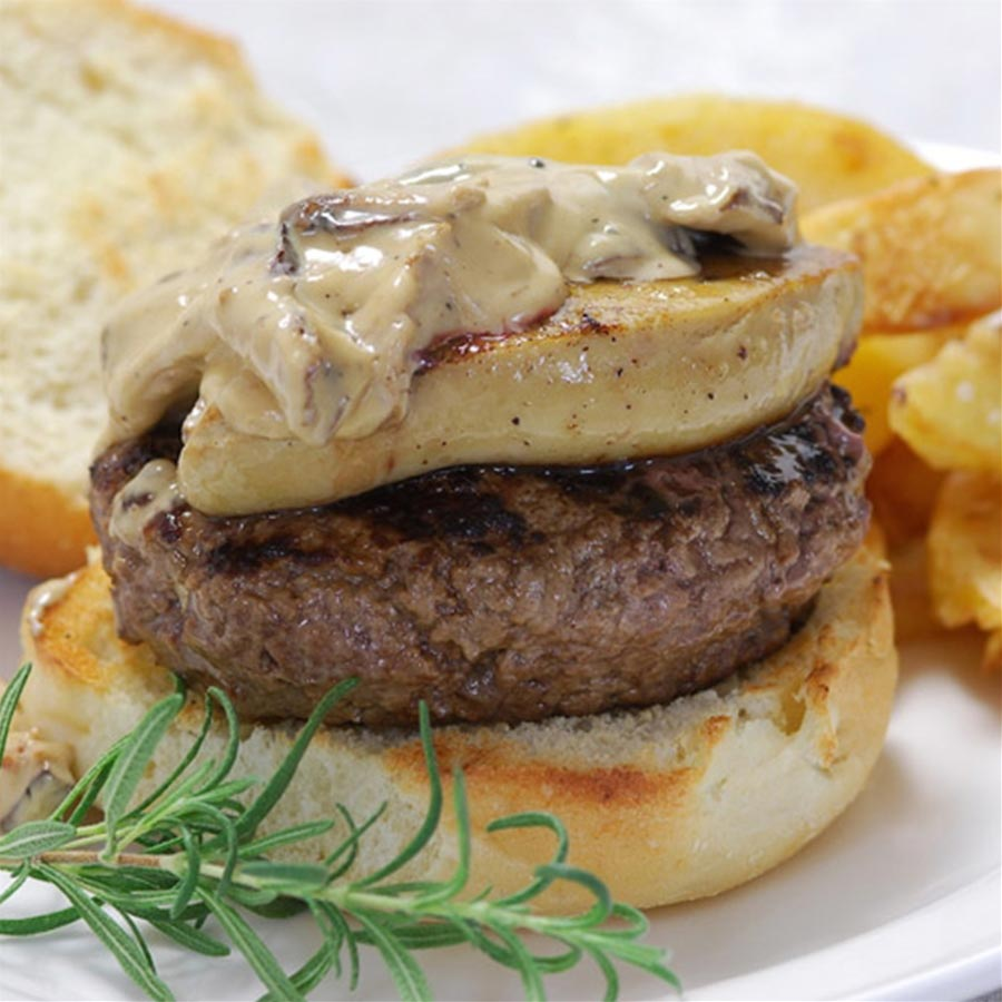 foie gras hamburger recipe gourmet food store. Black Bedroom Furniture Sets. Home Design Ideas