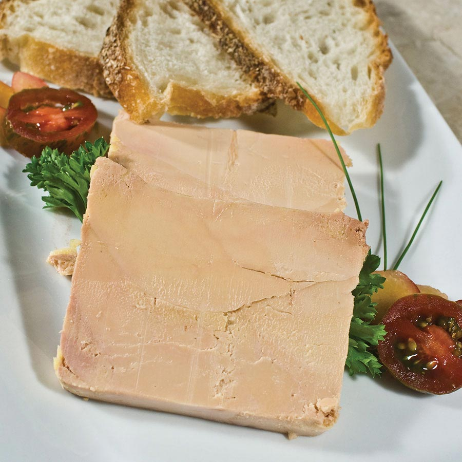 Duck foie gras micuit ready to eat terrine by rougie from canada buy foie gras online at - Foie gras en terrine ...