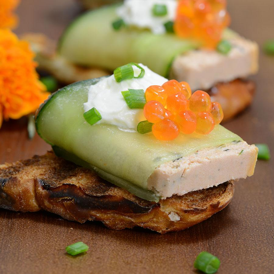 Smoked Salmon Mousse and Caviar Appetizer Recipe | Gourmet Food Store