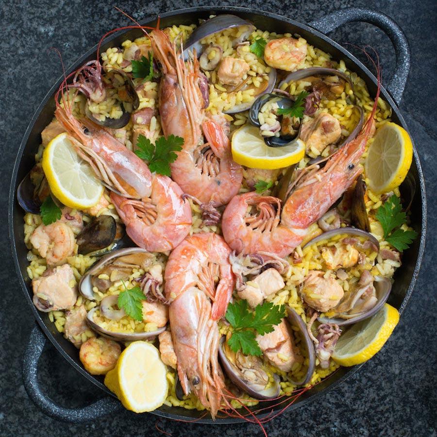 Spanish Seafood Paella Recipe Gourmet Food Store